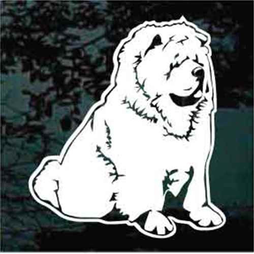 Chow Sitting Window Decal
