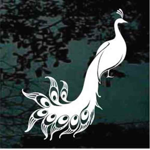 Ornamental Peacock Decals