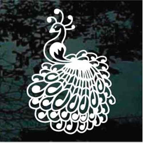 Peacock Decoration Window Decals