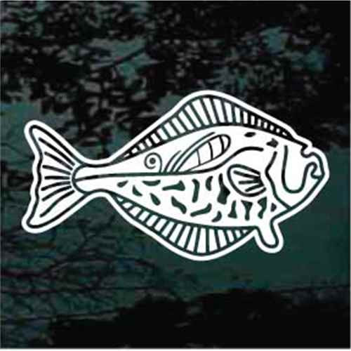 Detailed Halibut Fish Window Decals