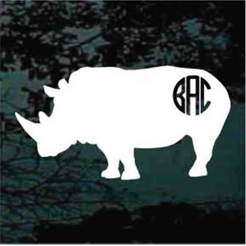 Rhinoceros Monogram Decals