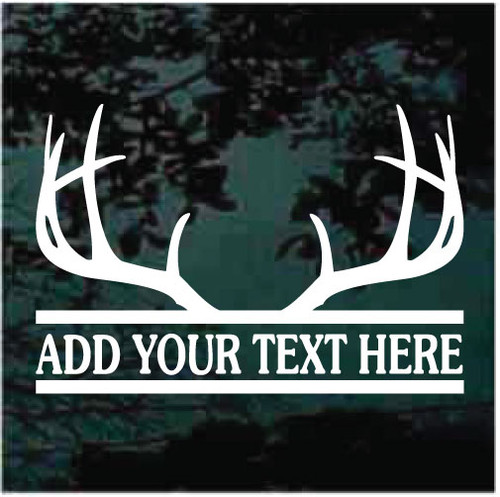Deer Antler Border Window Decals
