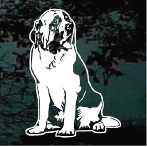 St. Bernard Sitting Window Decals