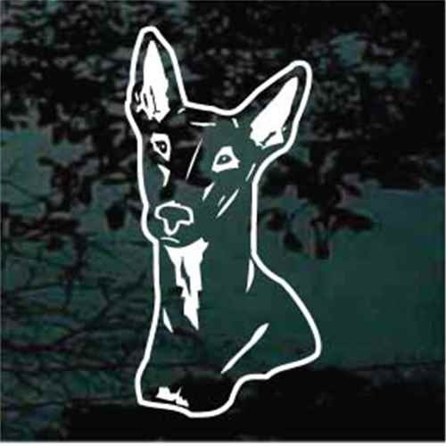 Pharaoh Hound Head Window Decal