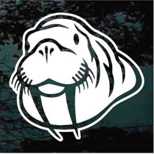 Walrus Head Window Decals