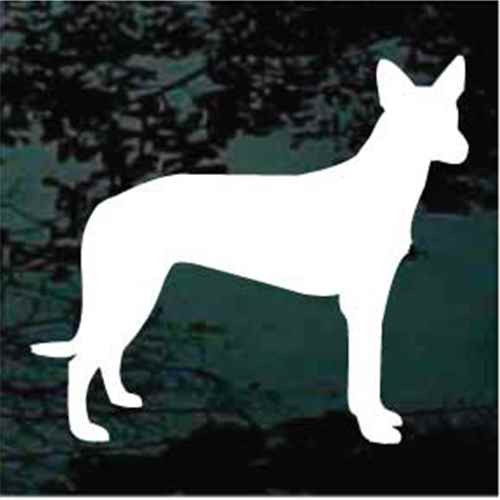 Pharaoh Hound Silhouette Window Decal