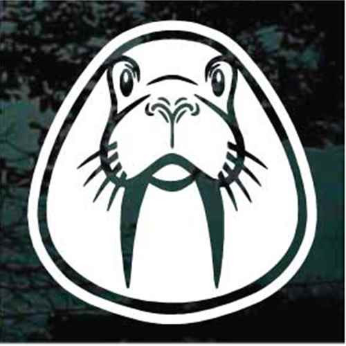 Cute Walrus Face Window Decals