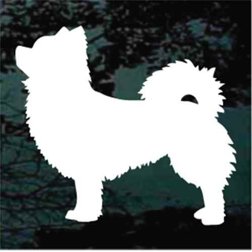 Long Haired Chihuahua Standing Window Decals