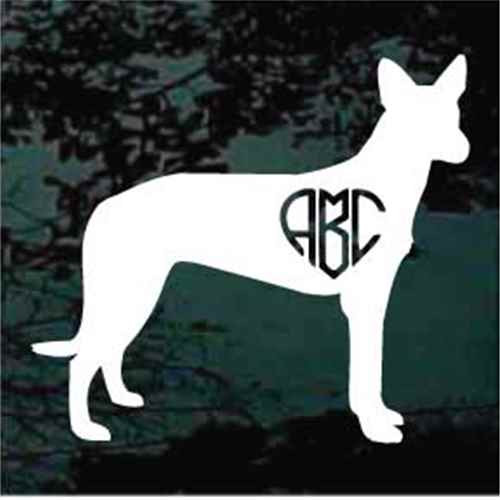 Pharaoh Hound Monogram Window Decal