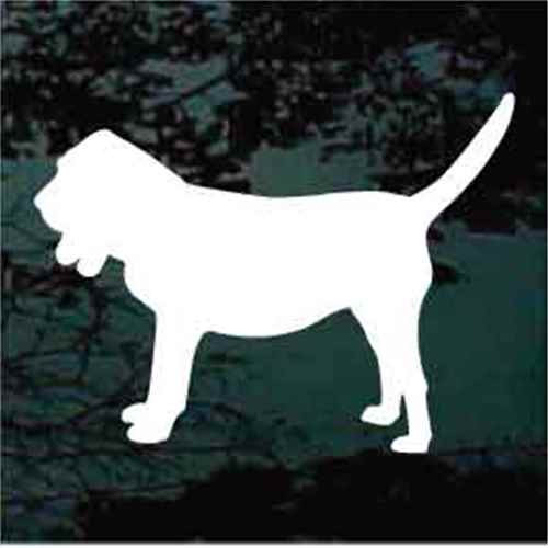 Bloodhound Silhouette Window Decal