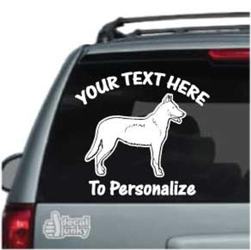 Beauceron Standing Car Window Decal