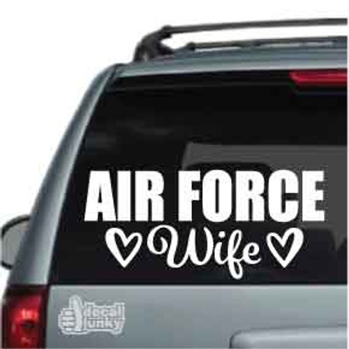 Air Force Wife With Hearts Car Decals