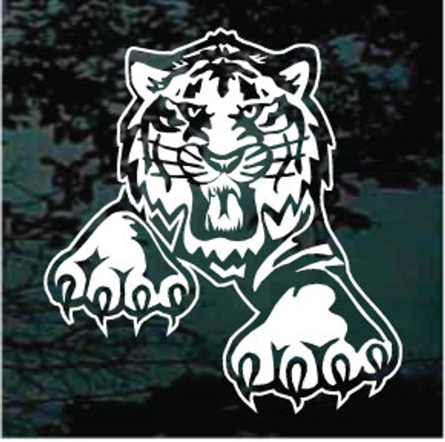 Clawing Tiger Window Decals