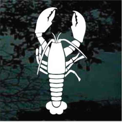 Silhouette Lobster Decals