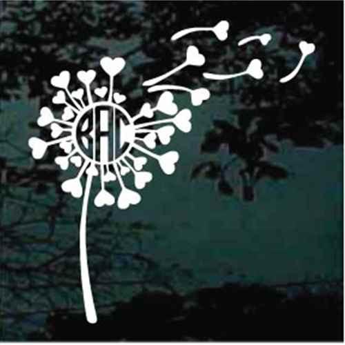 Dandelion Hearts Monogram
