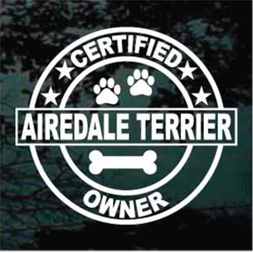 Certified Airedale Terrier Decals