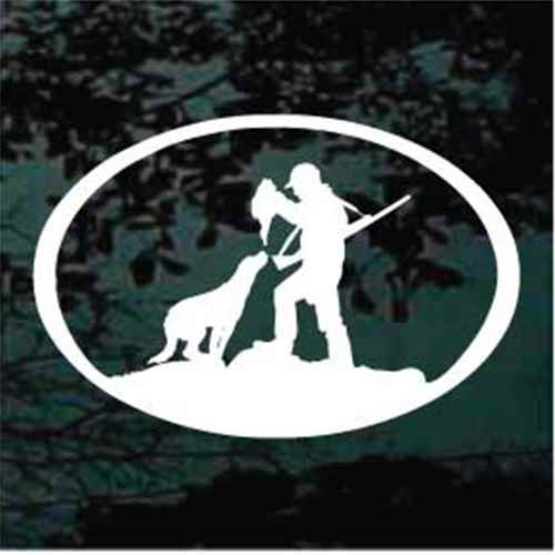 Dog Hunting Duck Oval