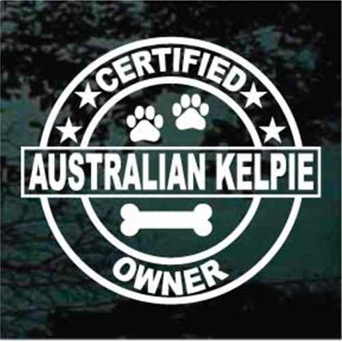 Certified Australian Kelpie Owner Decal