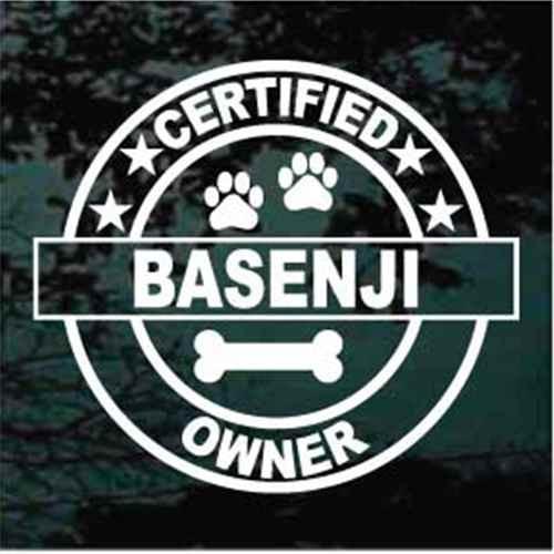 Certified Basenji Owner Window Decal