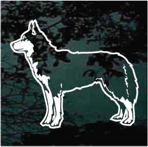 Siberian Husky Standing Window Decal