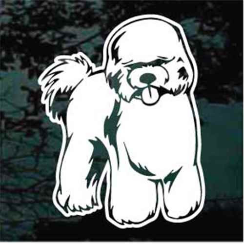 Happy Bichon Frise Window Decal