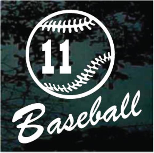 Baseball Team Script Text Window Decals