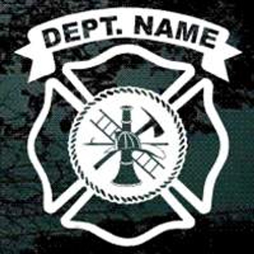 Fire Department Maltese Cross Decals