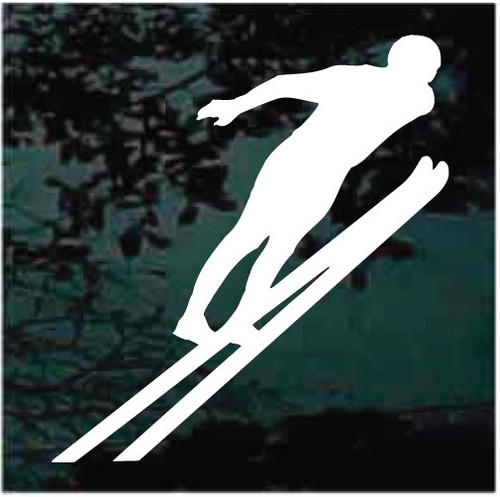 Snow Skiing High Jump Decals