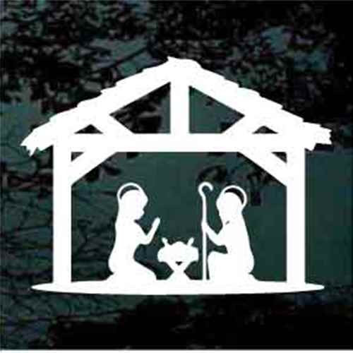 Nativity Scene Silhouette Decals