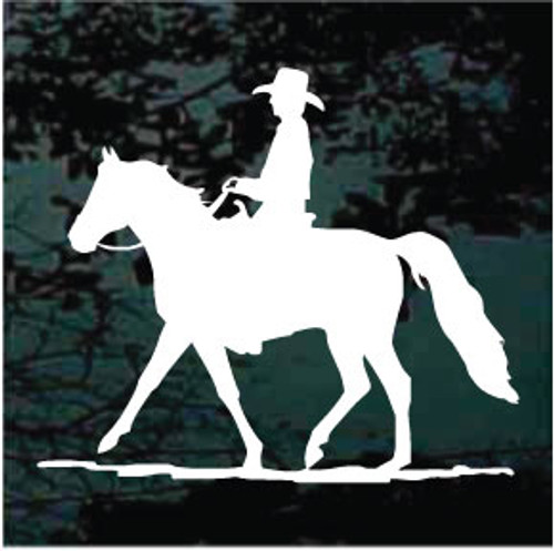 Cowboy Riding Gaited Horse Decals