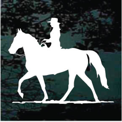 Cowgirl Riding Gaited Horse Decals
