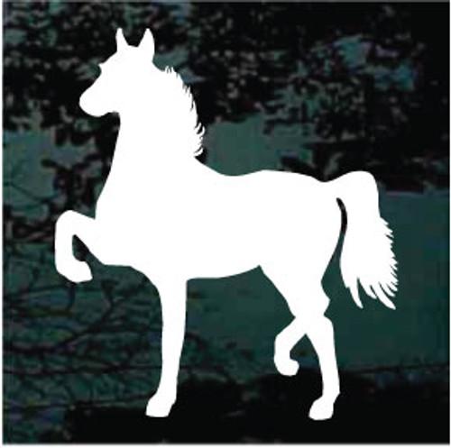 Hackney Horse Prancing Silhouette