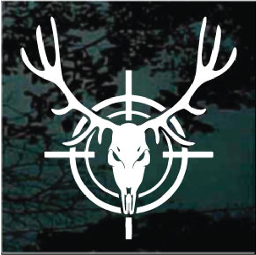 Deer Skull In Target Window Decal