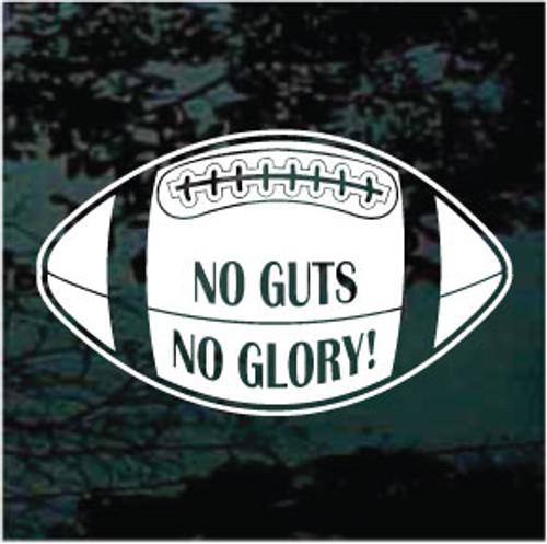 No Guts No Glory Football Decals