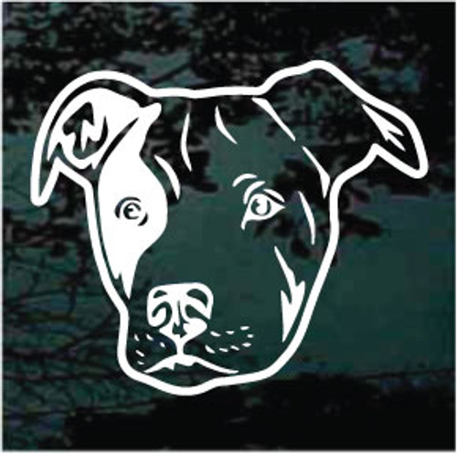 Friendly Pitbull Face Decal