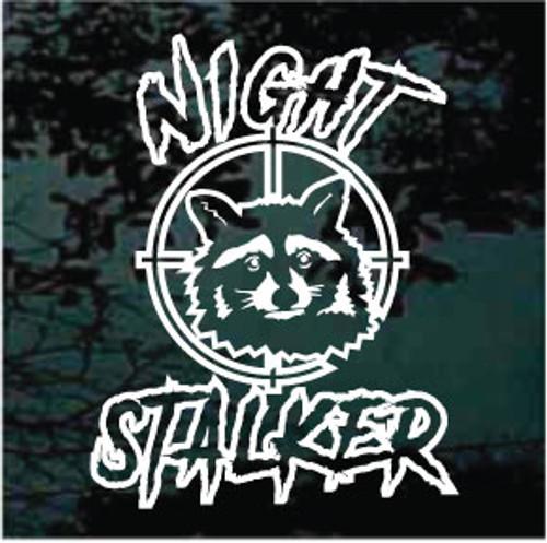 Night Stalker Raccoon Window Decal
