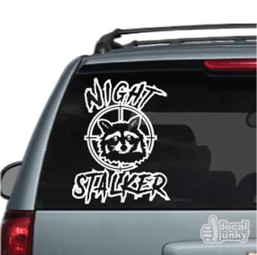 Night Stalker Raccoon Car Decal