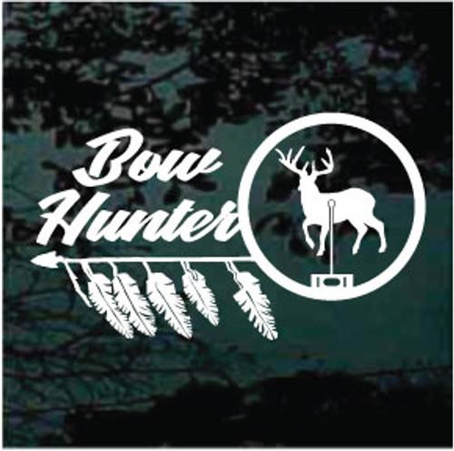 Deer In Scope Bow Hunter Window Decals