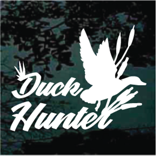 Duck Hunter With Duck & Reeds