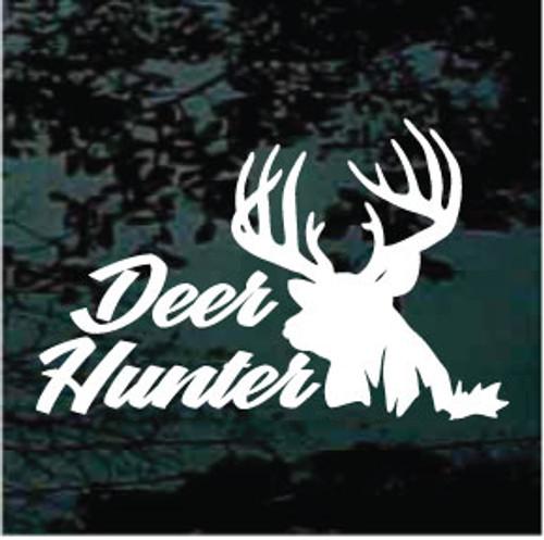Deer Hunter Deer Silhouette Window Decal