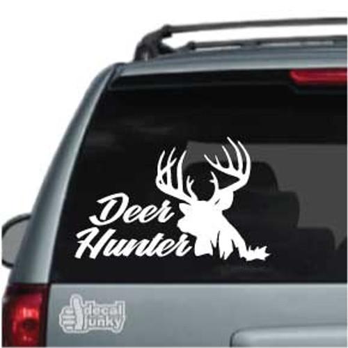 Deer Hunter Deer Silhouette Car Decal