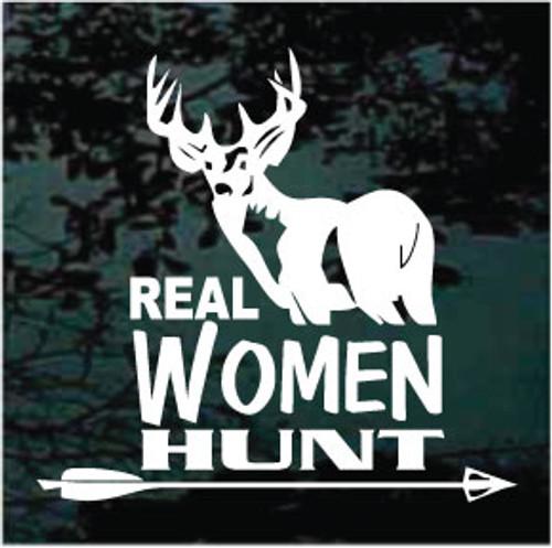 Real Women Hunt Window Decals