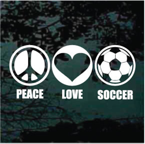 Peace Love Soccer Decals