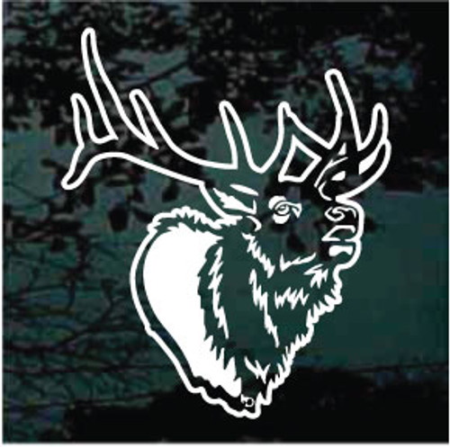 Detailed Elk Head Window Decals