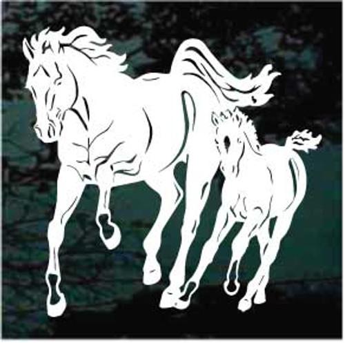 Horse & Colt Running