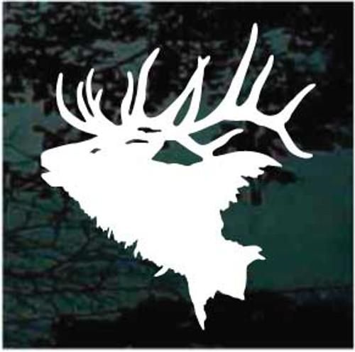 Solid Elk Head Window Decals