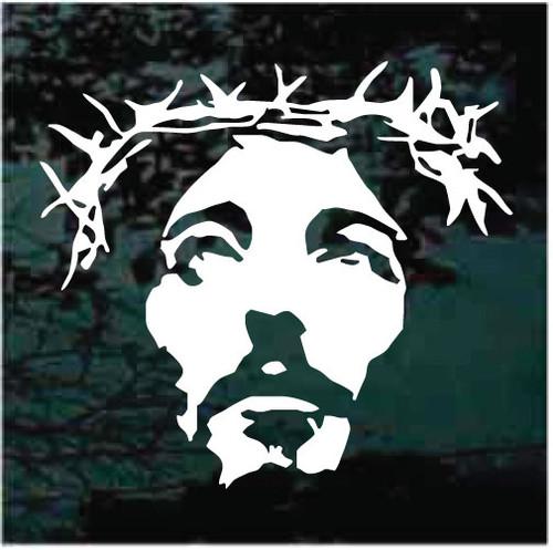 Jesus Face Crown Of Thorns Window Decals