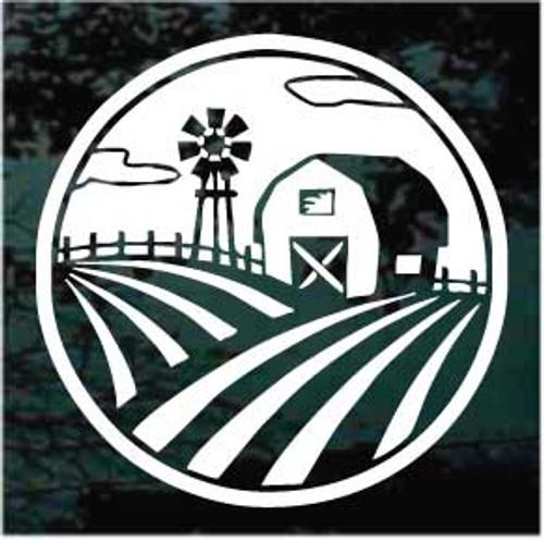 Farm Scene Window Decals