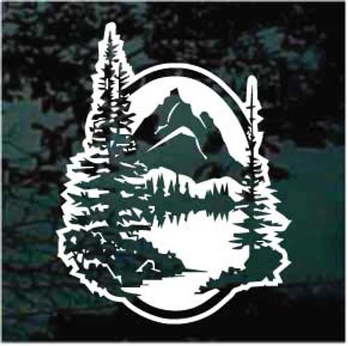Mountain Scene Window Decals