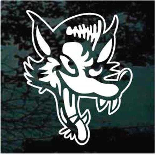 Wolf Graphic Cartoon